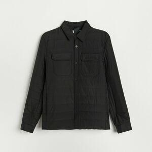 Reserved - Prešívaná bunda s vreckami - Čierna
