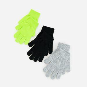 Reserved - Súprava 3 párov bavlnených úpletových rukavíc - Zelená