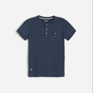 Reserved - Bavlnené polo tričko - Tmavomodrá