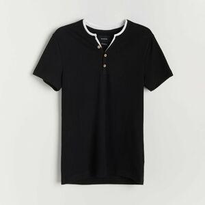Reserved - Bavlnené tričko - Čierna