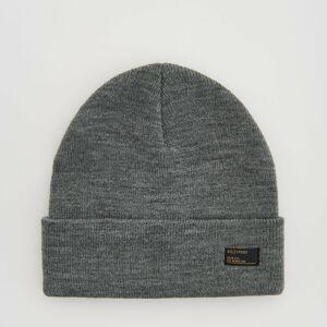 Reserved - Úpletová čiapka beanie - Šedá