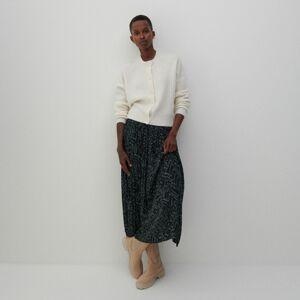 Reserved - Vzorovaná sukňa - Zelená