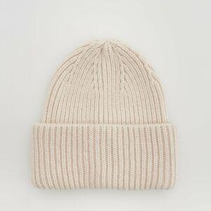 Reserved - Vlnená čiapka beanie - Krémová