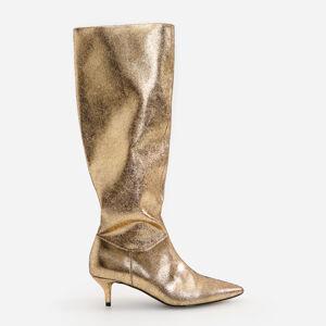 Reserved - Zlaté vysoké čižmy - Zlatá