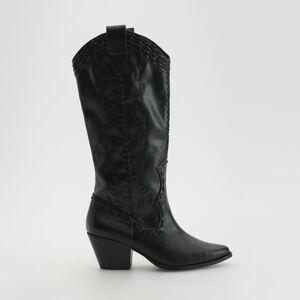 Reserved - Kovbojské čižmy - Čierna