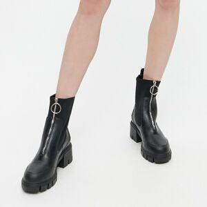 Reserved - Dámska členková obuv-vychádzková obuv - Čierna