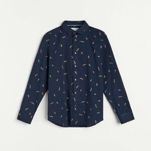 Reserved - Men`s shirt - Tmavomodrá
