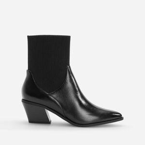 Reserved - Členkové čižmy s elastickým zvrškom - Čierna