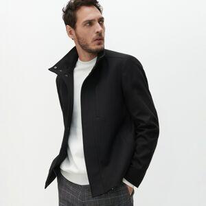 Reserved - Krátka bunda so stojačikom - Čierna
