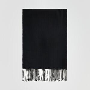 Reserved - Hladký šál - Čierna