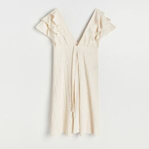 Reserved - Plážové šaty s opaskom - Krémová