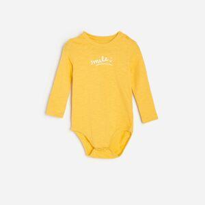Reserved - Bavlnené body s nápisom - Žltá