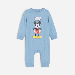 Reserved - Bavlnený overal s potlačou Mickey Mouse - Modrá