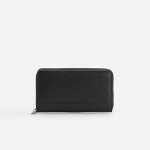 Reserved - Peňaženka s ozdobnou perforáciou - Čierna