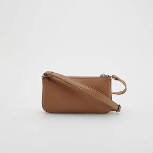 Reserved - Kožená kabelka typu baguette - Béžová