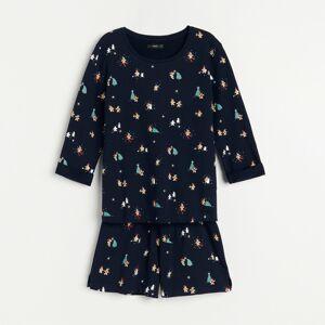 Reserved - Vianočné pyžamo so šortkami - Tmavomodrá