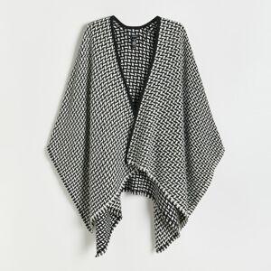 Reserved - Vzorovaný plášť - Čierna