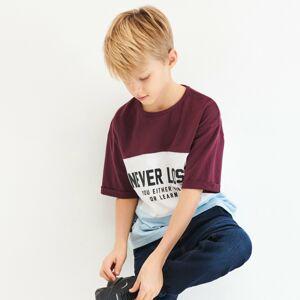 Reserved - Kombinované tričko - Bordový