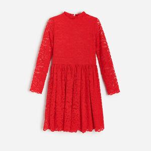 Reserved - Čipkované šaty - Červená