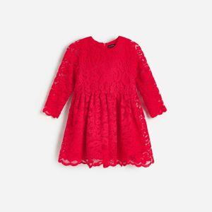 Reserved - GIRLS` DRESS - Červená