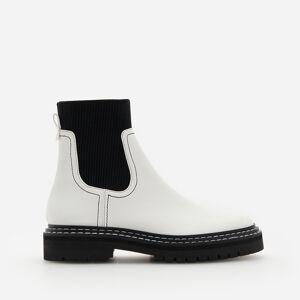 Reserved - Dámska členková obuv-vychádzková obuv - Biela
