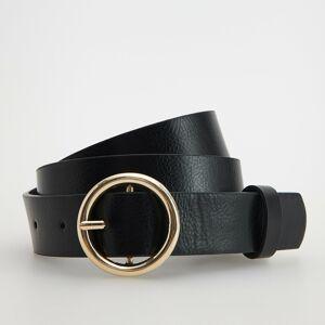 Reserved - Opasok s okrúhlou prackou - Čierna