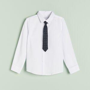 Reserved - Boys` shirt & tie - Biela
