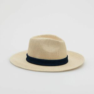 Reserved - Pletený klobúk fedora - Béžová