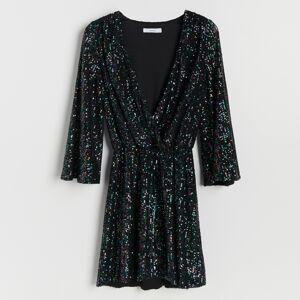 Reserved - Flitrované šaty - Viacfarebná