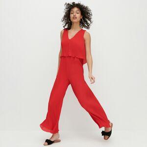 Reserved - Ladies` jumpsuit - Červená