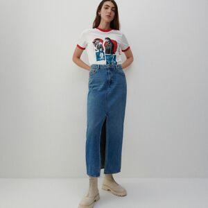 Reserved - Denimová sukňa - Modrá