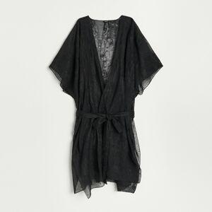 Reserved - Plážové šaty s opaskom - Čierna