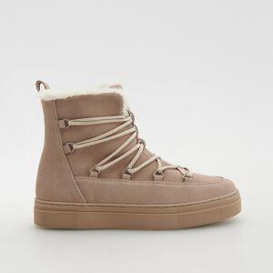 Reserved - Kožené topánky - Béžová