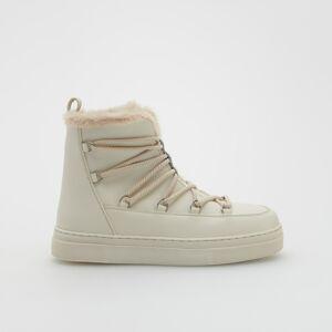 Reserved - Kožené topánky - Biela