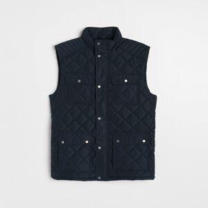 Reserved - Prešívaná vesta so stojačikom - Tmavomodrá