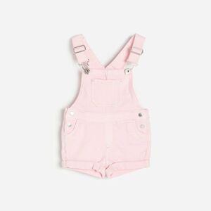 Reserved - Denimové šortky na traky - Ružová