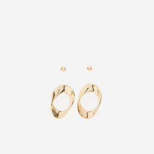 Reserved - Súprava 2 zlatých náušníc - Zlatá