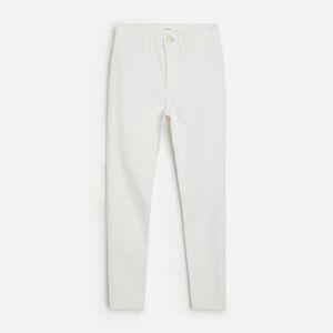 Reserved - Džínsy skinny fit s vysokým pásom - Biela