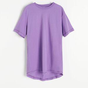 Reserved - Bavlnené tričko voľného strihu - Purpurová