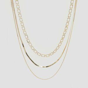 Reserved - Trojvrstvový náhrdelník - Zlatá