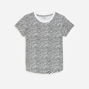 Reserved - Vzorované bavlnené tričko - Biela