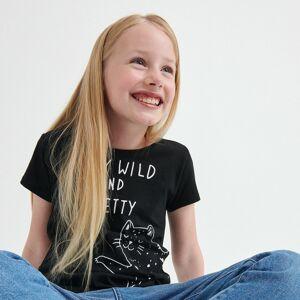 Reserved - Bavlnené tričko s potlačou - Čierna