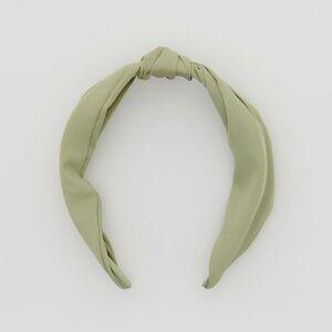 Reserved - Čelenka s ozdobným uzlom - Zelená