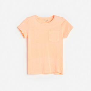 Reserved - Neónové tričko s vreckom - Oranžová