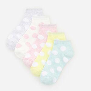 Reserved - Súprava 5 párov ponožiek z organickej bavlny - Ružová