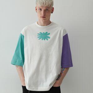 Reserved - Oversize tričko s potlačou - Krémová
