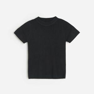Reserved - Pletený sveter kratšieho strihu - Čierna