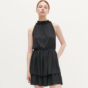 Reserved - Šaty s lesklou nitkou - Čierna