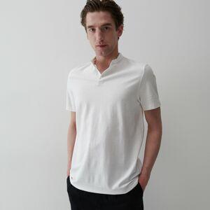 Reserved - Bavlnené polo tričko - Biela