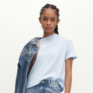 Reserved - Bavlnené tričko s nápisom - Modrá